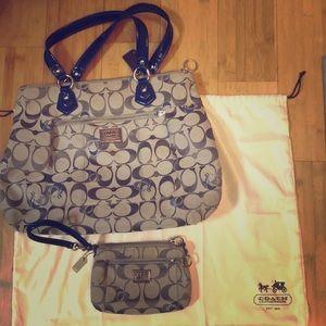 Coach Handbag with Wristlet